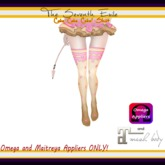 T7E: Cake Cake Cake! Thigh High Socks - Bubble Gum - Omega & Maitreya Appliers