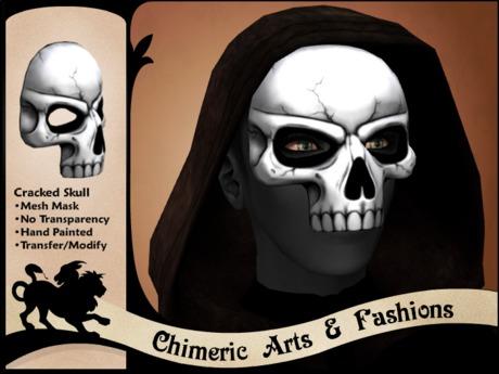 Cracked Skull Mask (White)