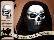 ~Chimeric Fashions~ Cracked Skull Mask (White)