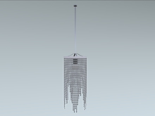 "Chandelier ""crystal drape"" 100% mesh 2prims"