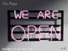 ~DecoFranzy~ Neon Sign - We are open (MC)