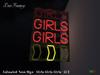 ~DecoFranzy~ Animated Neon Sign - Girls (MC)