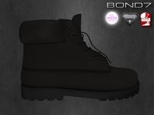*BOND7* TX Boots (Black)-Slink Male Flat Feet, The Mesh Project, Aesthetic, & Standard