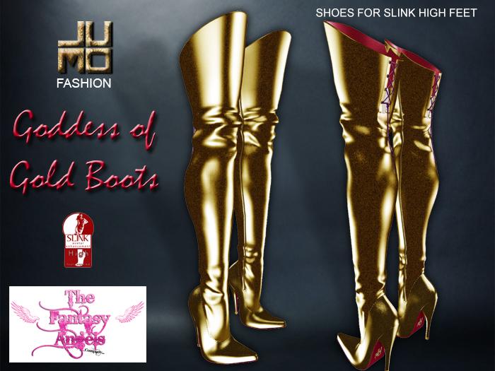 .:JUMO:. Goddess Of Gold Boots