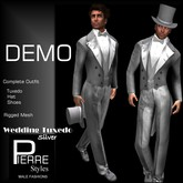 DEMO * Tuxedo Long Tail Silver - Pierre Styles