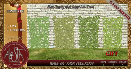 ALESTA << GIFT Mesh Wall Ivy Plant Pack Full Perm
