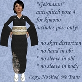 *GEISHASAN* ANTI-GLITCH KIMONO STANDING POSE 4