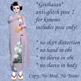 *GEISHASAN* ANTI-GLITCH KIMONO STANDING POSE 2