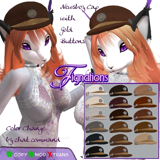 *Fig* 'Newsboy Style Cap' A-Color Change tagSteampunk