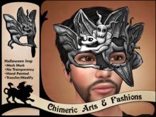 Halloween Imp Mask (Silver)