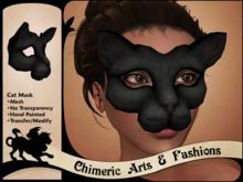 Mesh Cat Mask (Black)
