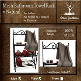 DJ - Mesh Bathroom Towel Rack v Natural