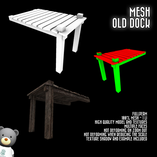[SL]Mesh Old Dock FULLPERM