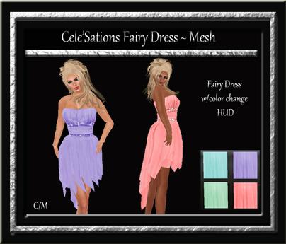 Cele'Sations Fairy Dress MESH
