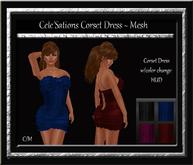 Cele'Sations Corset Mini Dress MESH