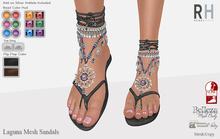 !Rebel Hope - Laguna Mesh Sandals Black