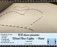 IOS Wired Floor Lights  -  Heart