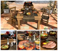 Aphrodite Argentinian table set with mini BBQ and more!
