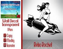 [CPS] Retro Rocket Decal **Dollarbie!**