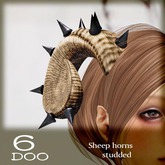 *6DOO* Sheep horns  studded