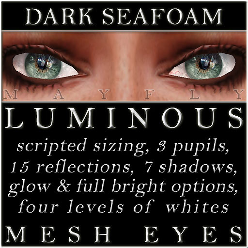 Mayfly - Luminous - Mesh Eyes (Dark Seafoam)