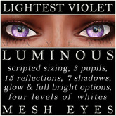 Mayfly - Luminous - Mesh Eyes (Lightest Violet)