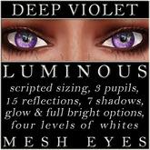 Mayfly - Luminous - Mesh Eyes (Deep Violet)