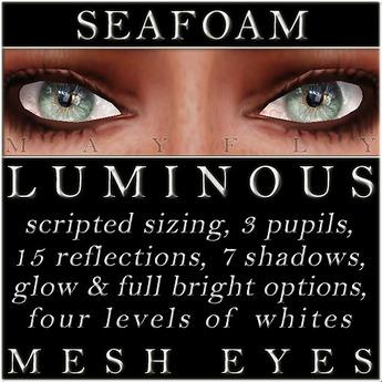 Mayfly - Luminous - Mesh Eyes (Seafoam)