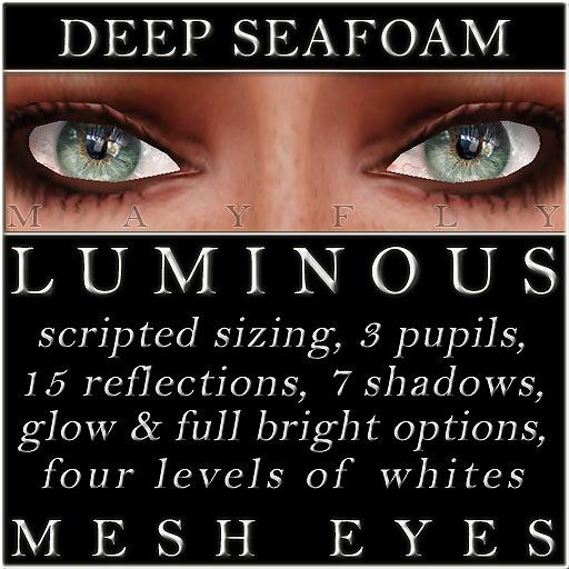 Mayfly - Luminous - Mesh Eyes (Deep Seafoam)