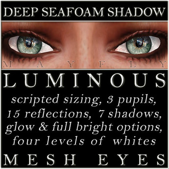 Mayfly - Luminous - Mesh Eyes (Deep Seafoam Shadow)