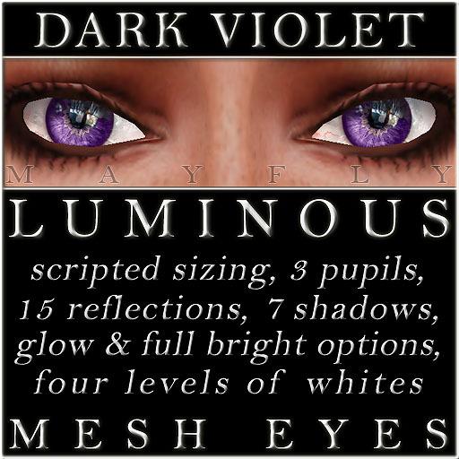 Mayfly - Luminous - Mesh Eyes (Dark Violet)