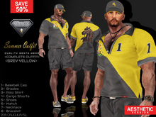 CA AESTHETIC SUMMER OUTFIT GREY YELLOW