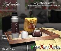 Argentinian Mate Set- Mate Argentino con yerba completo en bandeja!