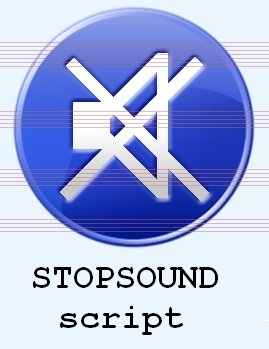Stop sound script and special silence sound