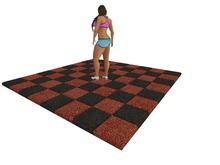 Mesh Rubber Flooring - Full Perm