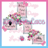 ::Love Lace:: - Girls Room Decal SET - FULL PERM