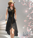 M&M-MACY DRESS MESH BLACK