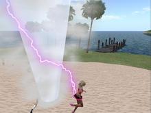 Avatar Attacker Twister HUD with lightning and thunder V8