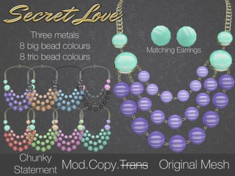 {Secret Love} Chunky Statement - Set (Original mesh)