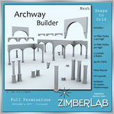 Arcs & Pillars Mesh with full permissions - ZimberLab Builder's Kit A