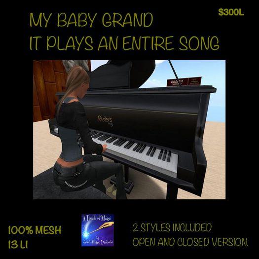 Black Grand Pianos Mesh (Boxed)