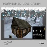 Mesh furnished log cabin (boxed)*