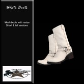 Country Couture White Cowboy Boots