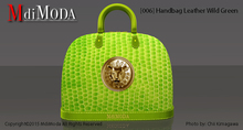 MdiModa - [006] Handbag Leather Wild Green