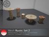 [DD] - FULL PERM  Rustic Set 2