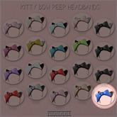 GACHA SPARES: PIDIDDLE - Kitty Bow Peep - Blue/Leopard RARE