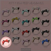 GACHA SPARES: PIDIDDLE - Kitty Bow Peep - Red/Leopard RARE