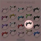 GACHA SPARES: PIDIDDLE - Kitty Bow Peep - Black/LeopardBW RARE
