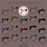 GACHA SPARES: PIDIDDLE - Kitty Bow Peep - Mint/Black Fur