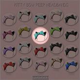 GACHA SPARES: PIDIDDLE - Kitty Bow Peep - Teal/BlackFur